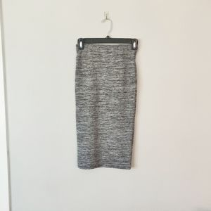 Zara Grey Stretchy Pencil Skirt